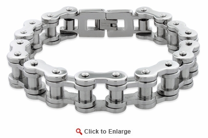 Stainless Steel Thick Motorcycle Chain Bracelet