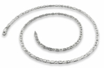 "Sterling Silver 30"" Flat Marina Chain Necklace 2.7MM"