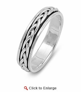 Sterling Silver 5MM Knot Spinner Ring