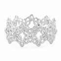 Sterling Silver Eternity Flower CZ  Ring