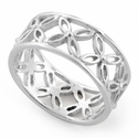 Sterling Silver Eternity Flower Ring