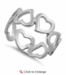 Sterling Silver Eternity Heart Ring