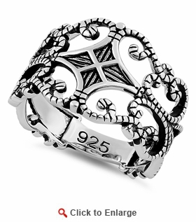 Sterling Silver Medieval Ring