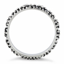 Sterling Silver Oxidized Dots Eternity Ring