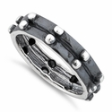 Sterling Silver Oxidized Eternity Armor Ring
