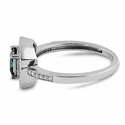 Sterling Silver Rainbow Topaz CZ Cushion Halo Engagement Ring