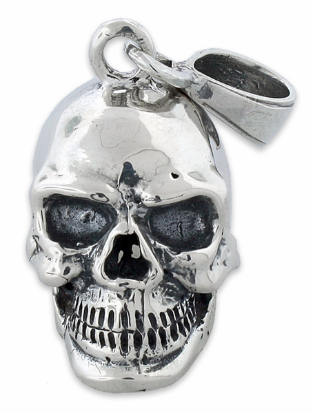 Silver skull pendant sterling silver skull pendant mozeypictures Images