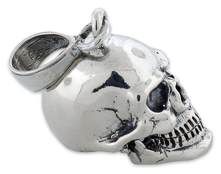 Sterling silver skull pendant mozeypictures Image collections