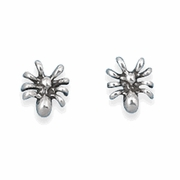 Sterling Silver Spider Stud Earrings