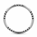Sterling Silver Stackable Bead and Bar Ring