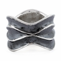 Sterling Silver Thich Wave Ring