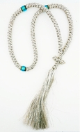 100 Knot  Silver Prayer Rope from Greece