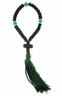 35 Flush Knot  Green Prayer Rope from Greece, 9""