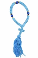 35 Knot  Blue Prayer Rope from Greece, 7 1/2""