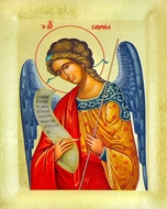 Archangel Gabriel (GAVRIIL), Serigraph Orthodox Icon with Stand