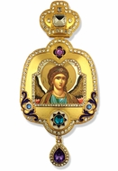 Archangel Michael, Enameled Framed Icon Ornament