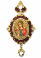 Archangel Michael, Enameled Jeweled Icon Ornament
