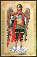 Archangel Michael,  Gold / Silver Foiled Orthodox Icon