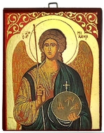 Archangel Michael, Greek Orthodox Byzantine Mini Icon