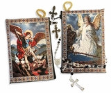 Archangel Michael & Guardian Angel,  Rosary Pouch Case