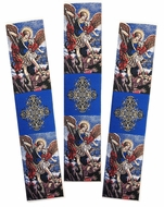 Archangel Michael, Set of 3 Tapestry  Icon  Book Markers
