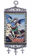 "Archangel Michael, Tapestry Icon Banner, `10"" H"