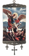 Archangel Michael, Textile Art  Tapestry Icon Banner Large