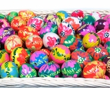 Assorted Ukrainian Pysanky Mini Wooden Eggs, Set of 5