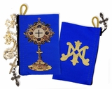 Blessed Sacrament Monstrance, Tapestry Rosary Pouch Case