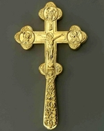 "Blessing Orthodox Cross Latun ""Brass Gilded"""