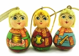 """BOYS"",  Wooden  Christmas Ornaments, Set of 3"