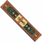 Byzantine Cross,  Tapestry  Icon  Book Marker, Red