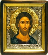 Christ Almighty, Orthodox Wood  Framed Icon With the Glass