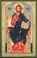 Christ  Enthroned, Orthodox Christian Panel Icon