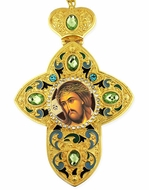 Christ Extreme Humility, Faberge Style Framed Cross with Icon