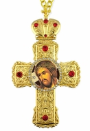 Christ Extreme Humility,  Framed Cross-Shaped Icon Pendant
