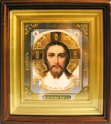"Christ ""Not Made by Hands"",  Framed Orthodox Icon"