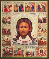 "Christ ""Not Made by Hands"", Orthodox Vita Icon"