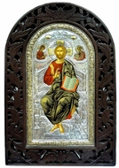 Christ Pantocrator, Serigraph Hand Painted Orthodox Icon