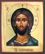 Christ  Pantocrator, Orthodox Christian Serigraph Icon