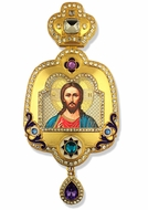 Christ The Teacher, Enameled Framed Icon Ornament