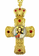 Christ The Teacher,   Framed Cross-Shaped Icon Pendant
