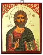 Christ The Teacher, Greek Orthodox Byzantine Mini Icon