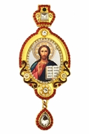 Christ The Teacher, Jeweled Icon Ornament