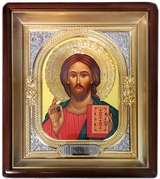 Christ the Teacher, Orthodox Framed Icon with Metal Riza