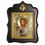 Christ The Teacher,  Orthodox  Wood  Framed Icon With the Glass
