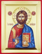 Christ The Teacher, Serigraph Orthodox Icon with Stand,  Extra  Large