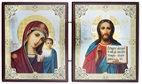 Christ the Teacher & Virgin of Kazan Diptych