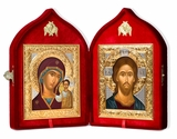 Christ the Teacher / Virgin of Kazan, Wedding Set of Serigraph Icons