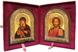 Christ the Teacher / Virgin of Vladimir, Wedding Set of Orthodox Icons